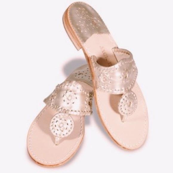 68bec2f2f92f Jack Rogers Shoes - Platinum Jack Rogers Hamptons Navajo Sandals